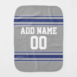 Team Jersey mit individuellem Namen und Zahl Baby Spucktuch