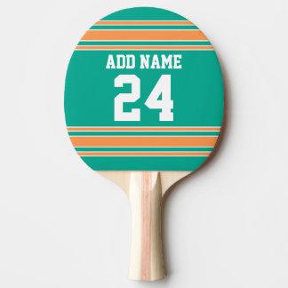 Team Jersey mit individuellem Namen und Zahl Tischtennis Schläger