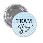 Team Junge-Baby Dusche Buttons