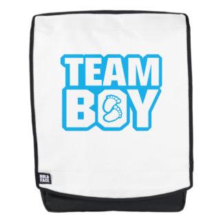 Team-Jungen-Babyparty-Geschlecht decken lustige Rucksack
