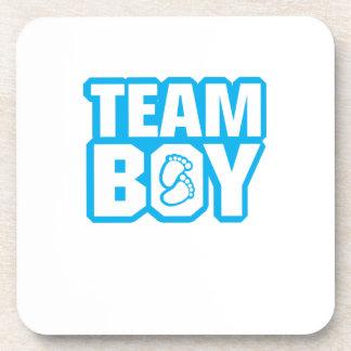 Team-Jungen-Babyparty-Geschlecht decken lustige Untersetzer