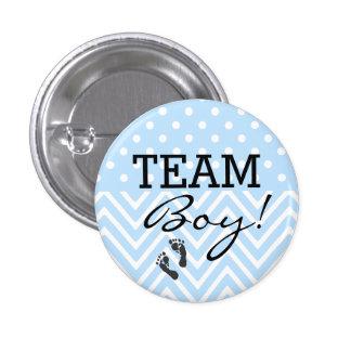 Team-Jungen-Blau-Babyparty Runder Button 3,2 Cm