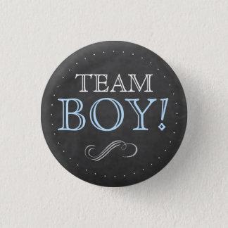 Team-Jungen-blaue Tafel-Babyparty klein Runder Button 3,2 Cm