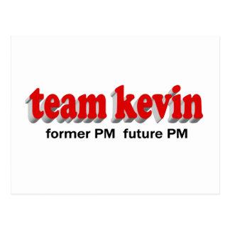 Team Kevin. Ehemaliges P.M., Zukunft P.M. Postkarte