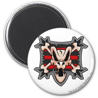 Team Krawk Insel-Logo Runder Magnet 5,7 Cm