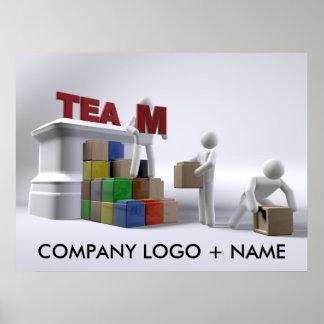 Team (kundengerechte) Plakat-verschiedene Größen d Poster