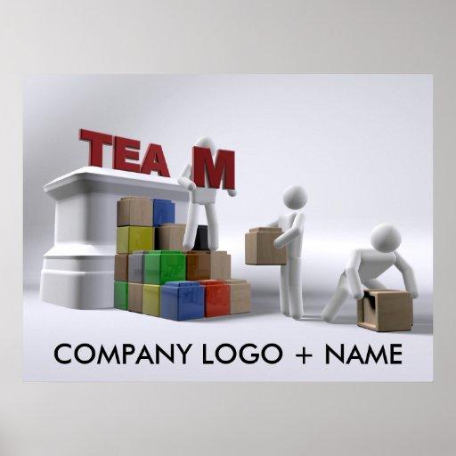 Team (kundengerechte) Plakat-verschiedene Größen d