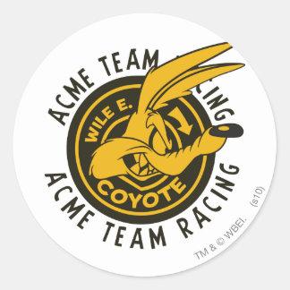 Team-Laufen Wile E. Coyote Acme Runder Aufkleber