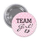 Team Mädchen-Baby Dusche Anstecknadelbutton