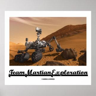 Team-Marserforschung (Neugier-Vagabund auf Mars) Poster