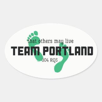 Team-Portland-Aufkleber Ovaler Aufkleber
