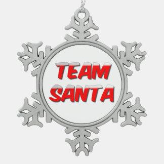 Team-Sankt-Zinn-Schneeflocke-Verzierung Schneeflocken Zinn-Ornament