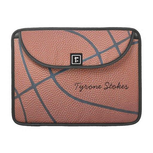 Team Spirit_Basketball Beschaffenheit look_Autogra Sleeve Für MacBook Pro