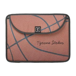 Team Spirit_Basketball Beschaffenheit Sleeves Für MacBook Pro