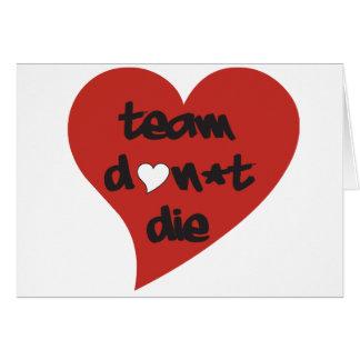 Team tun nicht die Herz - Karte
