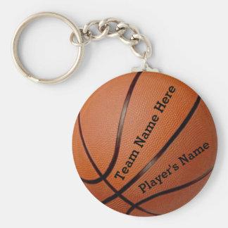 Team-und des Spielers billiger Namensbasketball Standard Runder Schlüsselanhänger