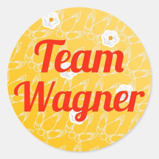 Team Wagner Runde Aufkleber