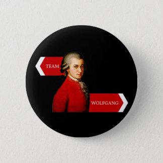 Team Wolfgang. Wolfgang Amadeus Mozart-Fan Runder Button 5,1 Cm