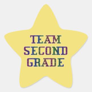 Team zweiten Grad, gelbe Neuheits-Schulaufkleber Stern-Aufkleber