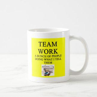 Teamarbeitswitz Kaffeetasse