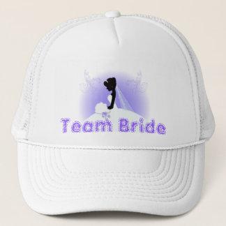 Teambraut HochzeitskleidbrautbrautSilhouette Truckerkappe