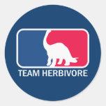 Teamherbivore-Vegetarier vegan Runde Sticker