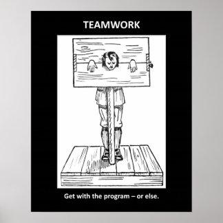 Teamwork-erhalten-mit-d-Programm-oder-sonst Plakate