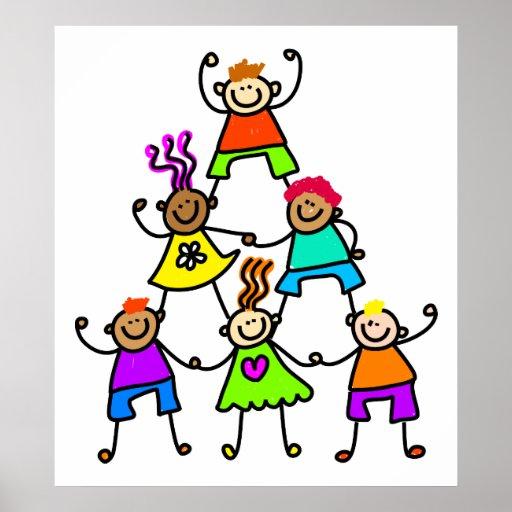 Teamwork-Kinder Poster