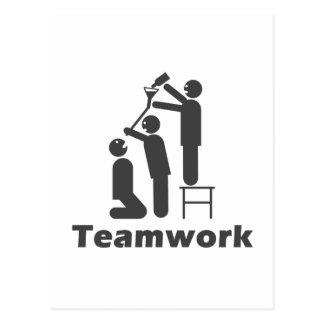 Teamwork - motivierend Waren Postkarte