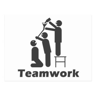 Teamwork - motivierend Waren Postkarten
