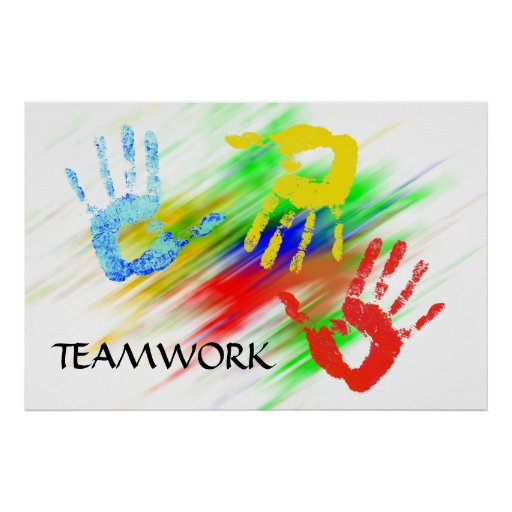 Teamwork-Plakat