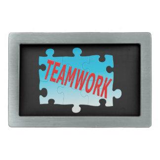 Teamwork-Puzzle Rechteckige Gürtelschnalle