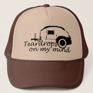 Teardrops auf meinem Verstand. .campers, der Truckerkappe