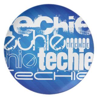 Techie; Königsblau-Streifen Teller
