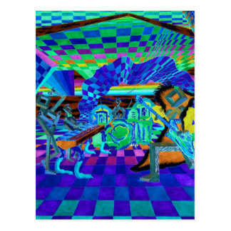 Techies Band Geometrix Reihe durch CricketDiane Postkarte