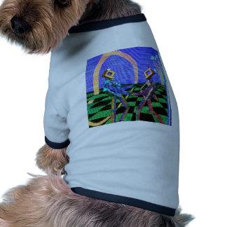 Techies, das CricketDiane Geometrix Produkte tanzt Ringer Hunde-Shirt