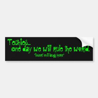 Techies Regel die Welt Autosticker