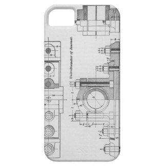 Technik-Plan-Maschinerie Vintag Barely There iPhone 5 Hülle