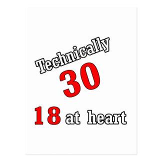 Technisch 30, 18 am Herzen Postkarte