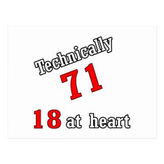 Technisch 71, 18 am Herzen Postkarte