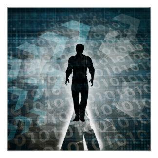 Technische Fähigkeiten und Technologie-Bildung für Poster