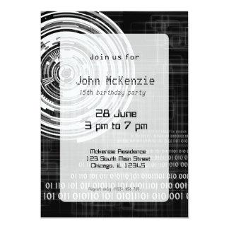 Techno Datenring #1 12,7 X 17,8 Cm Einladungskarte