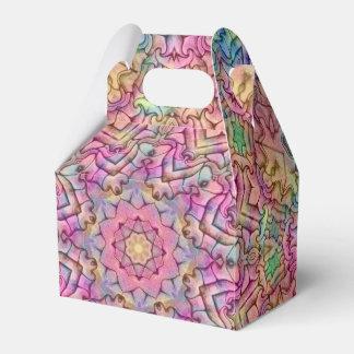 Techno färbt Muster-Giebel-Bevorzugungs-Kästen, 5 Geschenkschachtel