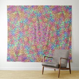 Techno färbt Vintage Kaleidoskop-Wand-Tapisserie Wandteppich