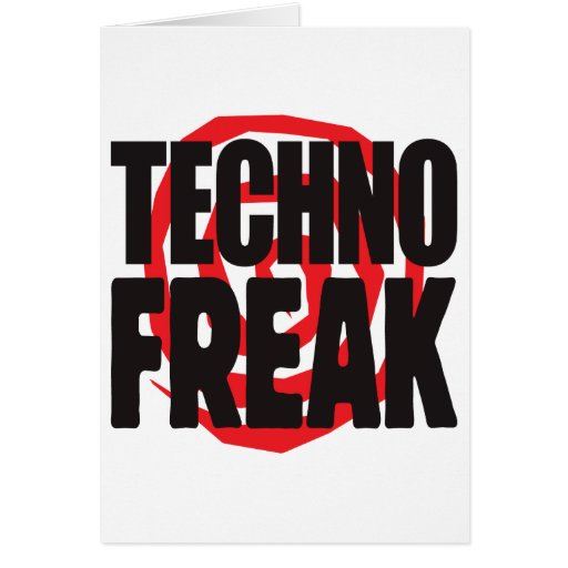 Techno Freak Grußkarte