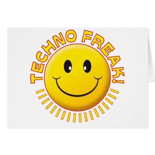 Techno Freak-Lächeln Grußkarten