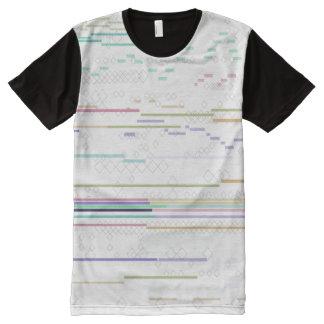Techno Haut T-Shirt Mit Komplett Bedruckbarer Vorderseite