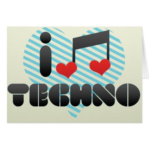 Techno Grußkarten