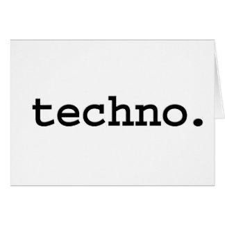 techno. grußkarte