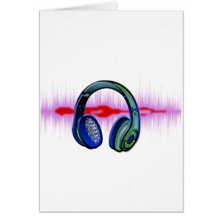 Techno Kopfhörer Grußkarte